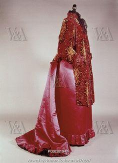 Charles Worth dress, parios, 1890 by Heather_Koslov, via Flickr