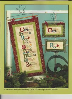 Christmas Sampler Stitchery -- art to heart - Tidings  -  I LOVE PATCHWORK - By Deise, via Flickr