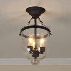 Mini Smokebell Semi-Flush Ceiling Lantern (4 finishes!)