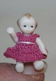 Crochet Clothes, Hand Crochet, Teddy Bear, Dolls, Mini, Handmade, Porcelain Ceramics, Baby Dolls, Hand Made