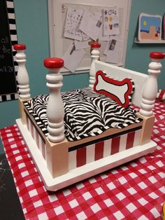 Dog bed- How cute!! I would like for it to be pin though instead of red