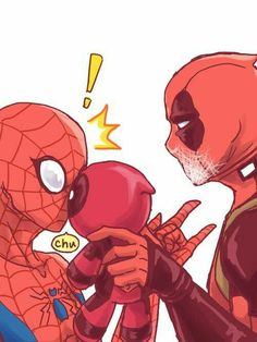 Read from the story Imágenes Spideypool/SuperFamily Y Otros CANCELADA. Baby Avengers, Marvel Avengers, Marvel Comics, Deadpool Y Spiderman, Spiderman Art, Marvel Comic Universe, Marvel Cinematic Universe, Marvel Funny, Marvel Memes