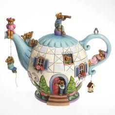 たくさんクマが乗っかっているティーポット:Teddy Bear Teapot #PutDownYourPhone #carde