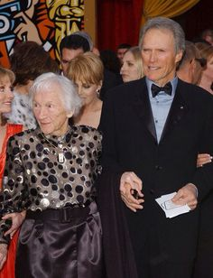 Clint With His Mother Hollywood Icons Actor Famous Couples Men