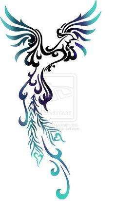 st feminine Phoenix tattoo design I've seen - looks really nice =)