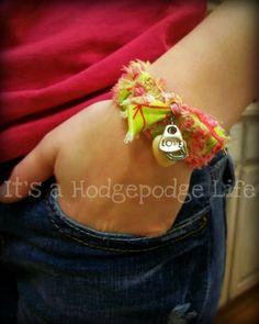 It's a Hodgepodge Life: Scrap Weave Bracelet