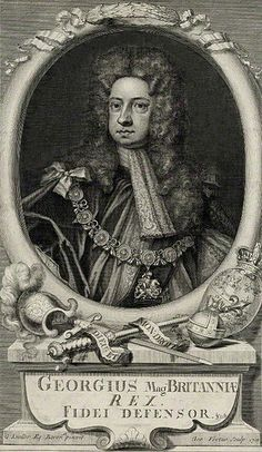 King George I in 1718, by George Vertue, after Sir Godfrey Kneller.