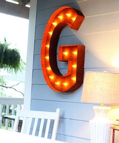 36'' 'G' Vintage Marquee Light | zulily