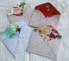 Letters to Santa fabric envelopes