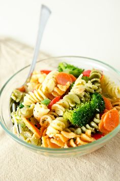 Garden Veggie Pasta Salad. A healthy, flavorful version of this classic dish.