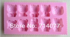 1PCS Hello kitty shape Muffin Sweet Candy Jelly fondant Cake chocolate Mold Silicone tool Baking Pan D007 on Aliexpress.com | Alibaba Group