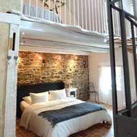 chambre double dans ce gîte en Bretagne