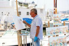 Oud en jong; iedereen raakt geïnspireerd in de schilderachtige haven van Saint-Tropez