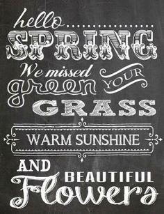 spring chalkboard idea