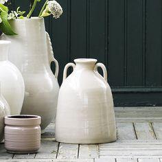 Jarre à eau en céramique écrue avec anses Tine K Home : Decoclico