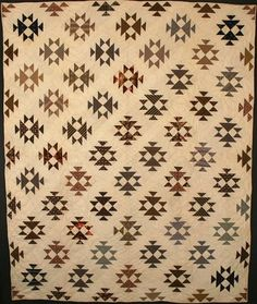 Double X Quilt: Circa 1880; Pennsylvania