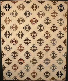 Double X Quilt: Circa 1880; Pennsylvania