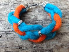 Felt Wool Cord Hippie Handmade Bracelet with Tibetan Touch by EffyBuu on Etsy Handmade Bracelets, Handmade Gifts, Cord Bracelets, Wool Felt, Touch, Unique Jewelry, Stuff To Buy, Etsy, Art