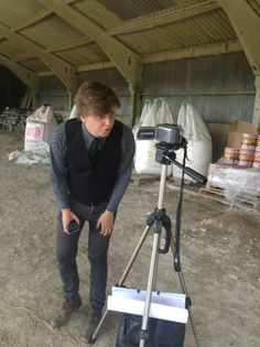 Behind the scenes shot from 'The Farm'.
