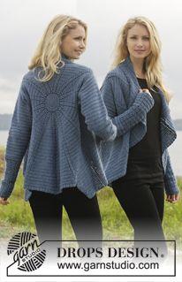 Winter Solstice Jacket By DROPS Design - Free Crochet Pattern - (garnstudio) Gilet Crochet, Crochet Coat, Crochet Jacket, Crochet Cardigan, Crochet Scarves, Crochet Shawl, Crochet Clothes, Crochet Sweaters, Crochet Stitches