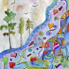 River Of Harmony by Paula Joy Welter - River Of Harmony Painting - River Of Harmony Fine Art Prints and Posters for Sale