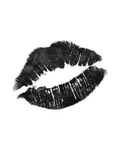 Printable Art Black and White Fashionista Lips door TheMotivatedType Image Tumblr, Black & White Quotes, Black And White Prints, Black White Art, Yennefer Of Vengerberg, Illustration, Lip Art, Home Decor Wall Art, Watercolor Print