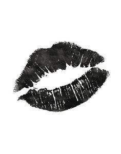 Printable Art Black and White Fashionista Lips door TheMotivatedType