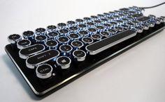 Lexking LKB-7130 Mini Mechanical Retro/Typewriter styled USB Keyboard