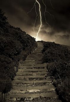 Arthur's Stormy Steps - Canongate, Edinburgh, Scotland by Semi-detached  on Flickr.