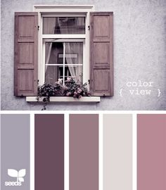 Antique violet: these colors - so dreamy, so girly, so antique.