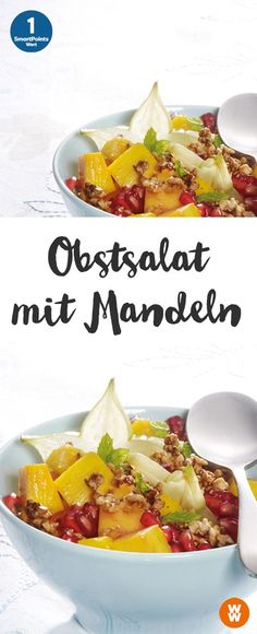 einfacher Obstsalat mit Mandeln | 1 SmartPoint/Portion, Weight Watchers, Frühstück