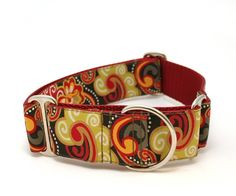 "1.5"" dog collar Gypsy wide buckle or martingale collar. $24.00, via Etsy."