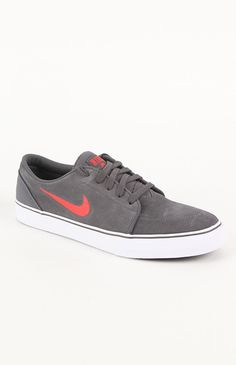 #Nike Satire Gray Suede Shoes