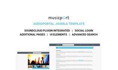 Musicport – szablon Joomla na temat Muzyka ze wbudowanym playerem