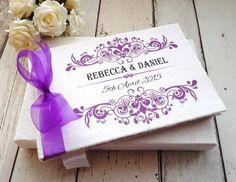 Rococo guest book /photo album personalised