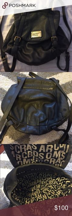 Marc by Marc Jacobs Classic Q backpack Dark Granite Grey color. Bought from another posher. Thought it was big enough for school notebooks. Never used. All wear from previous owner. There is a dark stain on the back (not visible when wearing). 7/10 condition. Retails for $475. Make me an offer  Marc by Marc Jacobs Bags Backpacks