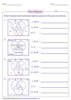this compilation of worksheets covers venn diagrams basics activities and word problems