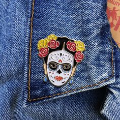 Day of the Dead Artista Soft Enamel Pin Jewelry Art