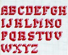 Funky 70s Cross Stitch Alphabet   Flickr - Photo Sharing!