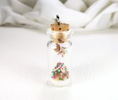 Miniature Gingerbread House in a Bottle Miniature by ChikoCraft, $48.00