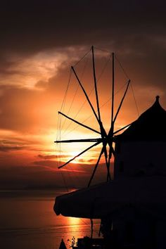 Setting Sun, Santorini  Greece