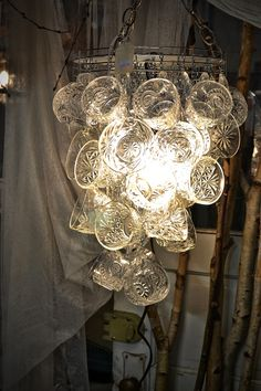 The Outlaw Gardener: The Tacoma Home and Garden Show: Part the Second Chandelier Makeover, Chandelier Lighting, Chandeliers, Teacup Crafts, Garden Show, Upcycled Vintage, Repurposed, Home Lighting, Industrial Lighting