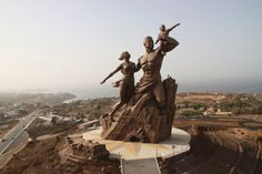 The African Renaissance Monument, Senegal, Africa.         The African Renaissance Monument, also referred as Monument to the Afric...