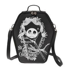 Nightmare Before Christmas Jack Skellington 3 way Casket Coffin Bag Disney Store JAPAN