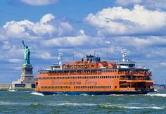 Ride the Staten Island Ferry in New York. The 30-minute ride from Lower Manhattan to Staten Island delivers spectacular views of the Statue of Liberty and Ellis Island. From the broad expanse of New York Harbor, you'll see what originally attracted the first European settlers to Manhattan.