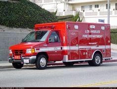 Wheeled CoachAmbulanceLos Angeles Fire DepartmentEmergency Apparatus Fire Truck Photo