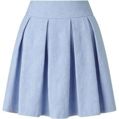 Miss Selfridge Blue Jacquard Skater Skirt ($18) ❤ liked on Polyvore featuring skirts, blue, blue skirt, jacquard skirts, miss selfridge, skater skirts and circle skirt
