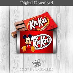 Mickey Mouse  KitKat Bar Wrapper  Printable Digital Download