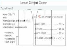 Lesson 3 : Skirt Sloper