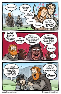 Witty Comics Based on Characters & Scenes From 'Game of Thrones' Game Of Thrones Comic, Got Game Of Thrones, Game Of Thrones Funny, Witty Comics, Valar Dohaeris, Valar Morghulis, Game Of Thones, Fire Book, Got Memes